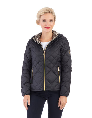 MICHAEL KORS Petite Packable Hooded Jacket