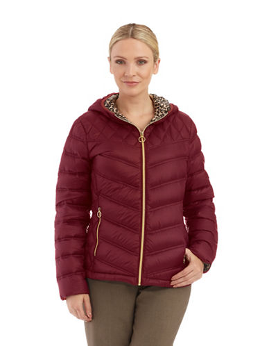 MICHAEL KORS Packable Hooded Jacket