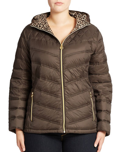 MICHAEL KORS Plus Packable Hooded Jacket