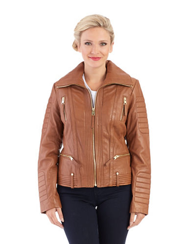 MICHAEL MICHAEL KORS Zipper Moto Jacket
