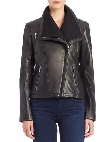 MICHAEL MICHAEL KORSAsymmetrical Zip-Front Leather Jacket