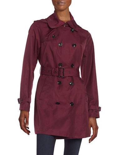 michael kors female double breasted trench coat