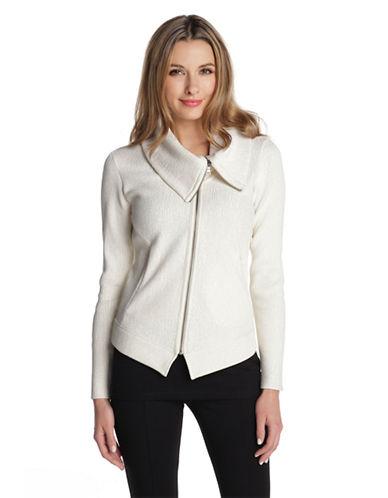 NIC+ZOEFoiled Knit Moto Jacket