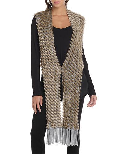 Nic+Zoe Plus Plus Faux Fur Fringe Vest