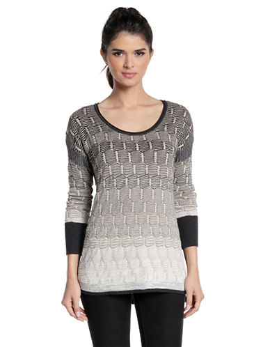 Nic+Zoe Plus Plus Ombred Textured Top