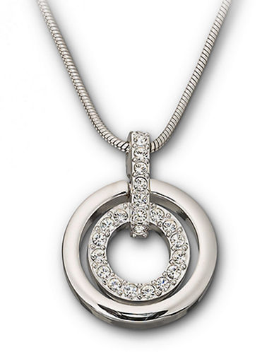 SWAROVSKIDouble-Ring Crystal Pendant Necklace
