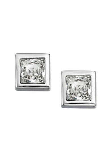 SWAROVSKIPrincess-Cut Crystal Stud Earrings