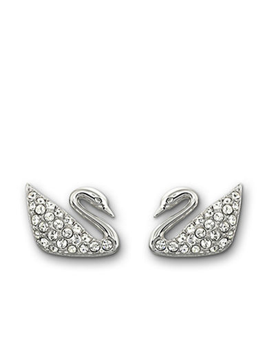 SWAROVSKISilver-Tone Crystallized Swan Earrings