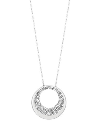 SWAROVSKIPebble Silver Tone and Crystal Pendant Necklace