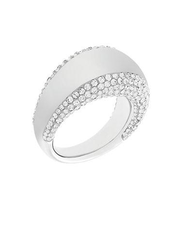 SWAROVSKIPebble Silver Tone and Crystal Ring