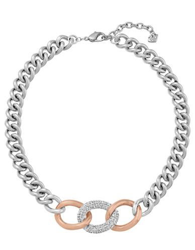 SWAROVSKIBound Rose Gold Tone and Silver Tone Curb Chain Necklace