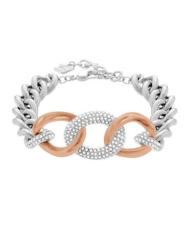 SWAROVSKIBound Rose Gold Tone and Silver Tone Curb Chain Bracelet