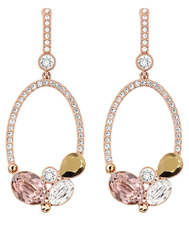 SWAROVSKIBranch Rose Gold Tone and Crystal Drop Earrings