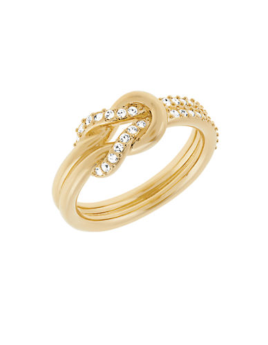SWAROVSKIVoile Gold Tone and Crystal Knot Ring