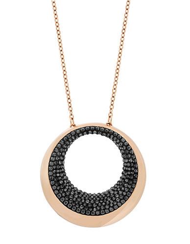 SWAROVSKIPebble Rose Gold Tone and Crystal Pendant Necklace
