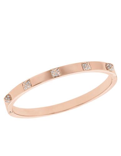 SWAROVSKITactic Swarovski Crystal and Rose Goldtone Bangle Bracelet
