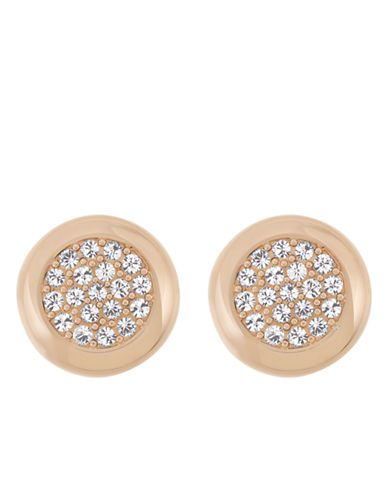 SWAROVSKIStone Rose Gold Tone and Crystal Stud Earrings
