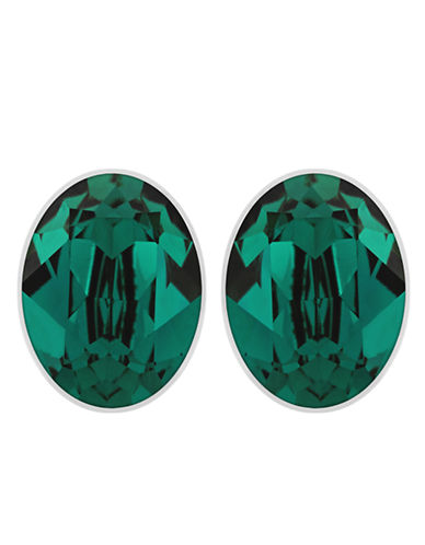 SWAROVSKIBis Silver Tone and Emerald Swarovski Crystal Stud Earrings