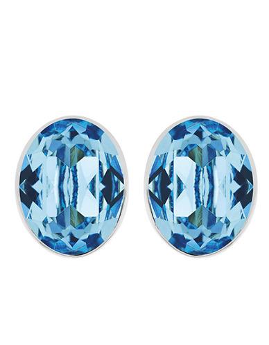 SWAROVSKIBis Silver Tone and Aqua Crystal Stud Earrings