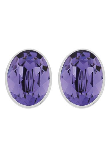 SWAROVSKIBis Silver Tone and Tanzanite Crystal Stud Earrings