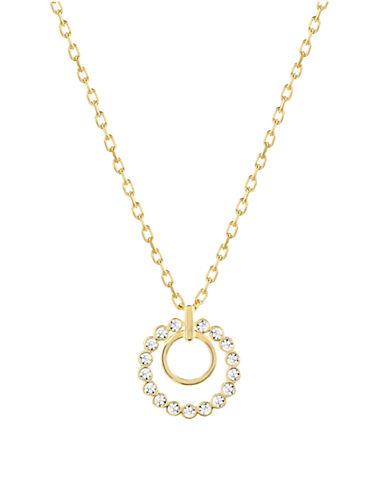 SWAROVSKICathy Double Crystal Pendant Necklace - Goldtone