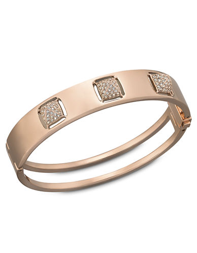 SWAROVSKITactic Swarovski Crystal Spike and Rose Goldtone Bangle Bracelet