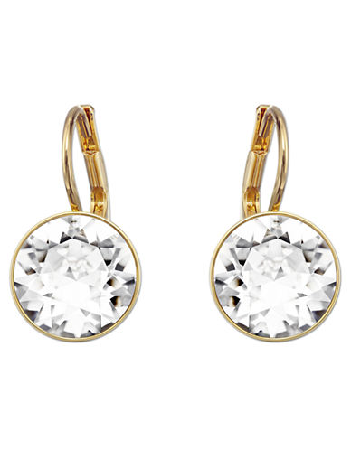 SWAROVSKI Bella Gold Tone and Crystal Drop Earrings