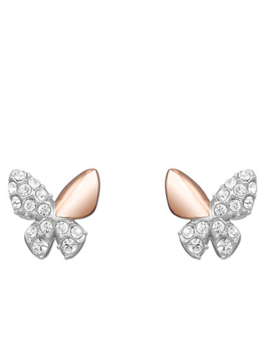 SWAROVSKIBetter Rose Gold Tone and Crystal Butterfly Pendant Stud Earrings
