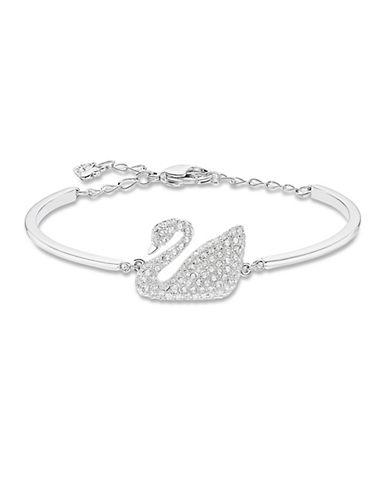 SWAROVSKISilver-Tone Crystallized Swan Bracelet