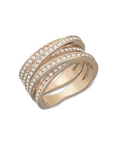 SWAROVSKISpiral Rose Gold-Tone Crystallized Ring