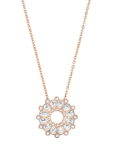 SWAROVSKIAsset Rose Gold Tone and Crystal Pendant Necklace