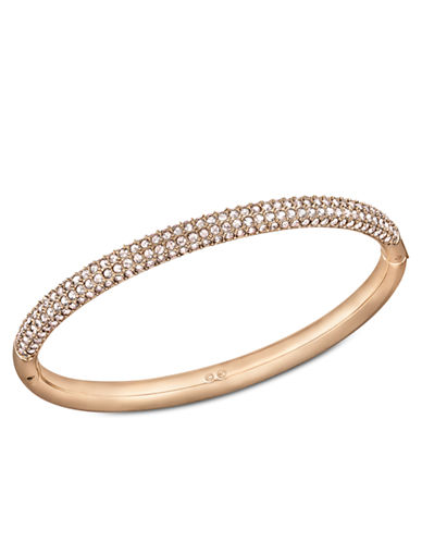 SWAROVSKIStone Swarovski Crystal and Rose Goldtone Bangle Bracelet