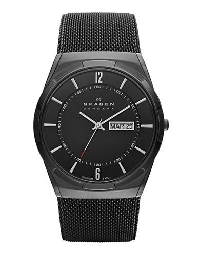 SKAGEN DENMARKMens Titanium and Mesh Watch