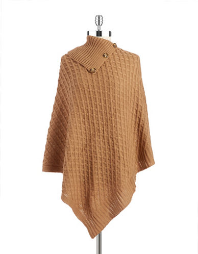 lord taylor female  basket weaved poncho