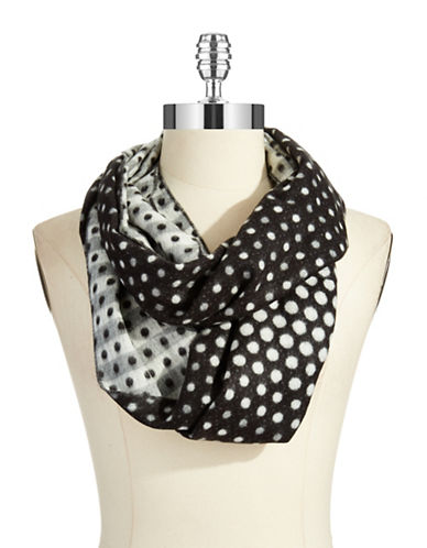 LORD & TAYLOR Dotted Block Striped Scarf