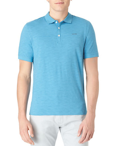 CALVIN KLEINModeled Solid Multi-Count Polo