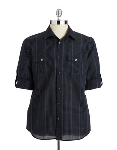 CALVIN KLEINPlaid Button-Down Shirt