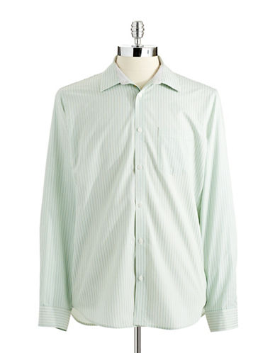 CALVIN KLEIN Striped Button-Down Shirt