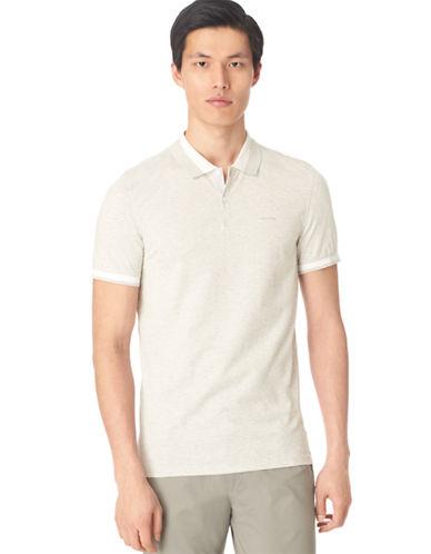 CALVIN KLEINHeathered Stripe Polo Shirt