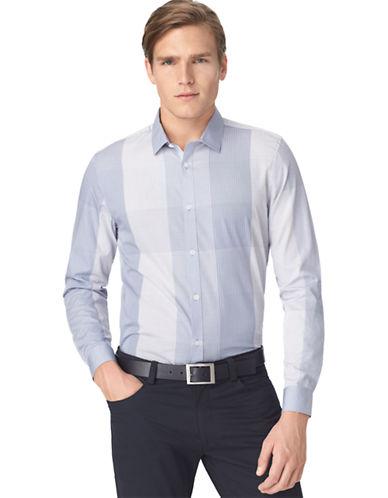 CALVIN KLEINModern Fit Multi Check Slub Poplin Sport Shirt