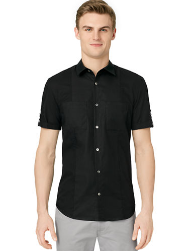 CALVIN KLEINSlim Fit Dobby Mix Media Sport Shirt