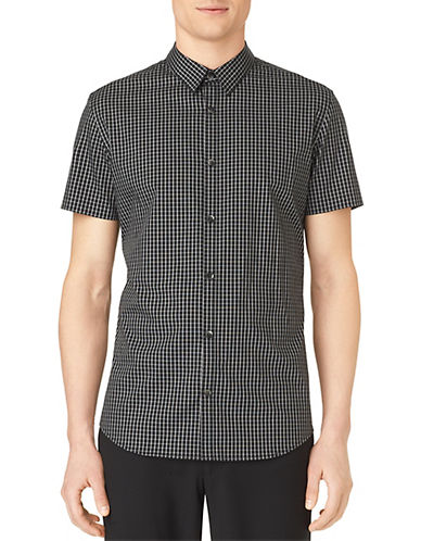 CALVIN KLEINSlim Fit Plainweave Linear Check Sport Shirt
