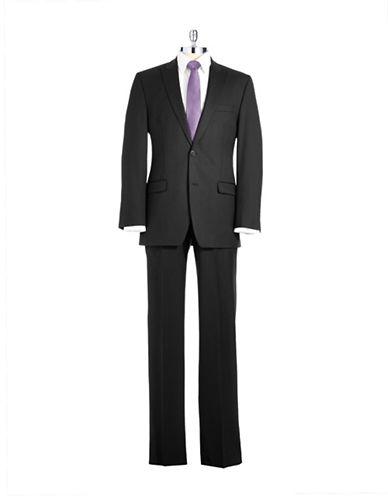 CALVIN KLEINSlim Fit Pinstriped Wool Pant Suit