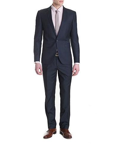 BLACK BROWN 1826Modern Fit 2 Piece Stripe Suit