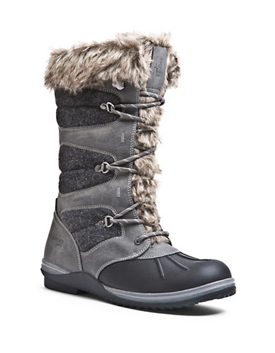 BLONDOSasha Waterproof Leather and Faux Fur-Cuffed Boots