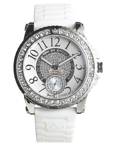 JUICY COUTUREPedigree Stainless Steel Jelly Strap Watch