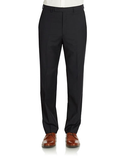 CALVIN KLEIN Modern Fit Wool Pinstriped Dress Pants