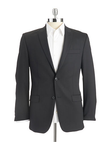 CALVIN KLEIN Modern-Fit Pinstriped Suit Jacket