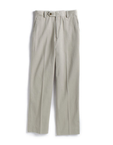 LORD & TAYLOR KIDSGuys 8-20 Flat-Front Cotton Pants - Slim