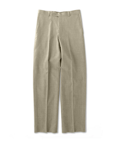 LORD & TAYLOR KIDS Flat-Front Cotton Pants